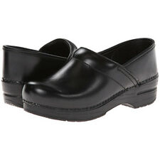 Dansko PROFESSIONAL CABRIO BLACK Womens Leather Slip On Closed Back Clog Shoes