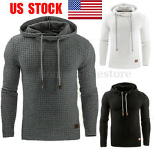 US Sport Pullover Mens Slim Hoodie Hooded Coat Sweatshirt Gym Sweater Jumper Top