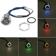 Details about  12V 19mm LED Push Button Panel Dash Momentary Switch Light Car B