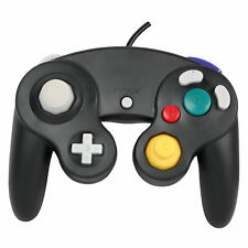 Wired Shock Video Game Controller Pad for Nintendo GameCube GC&Wii Black Gift BH