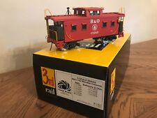 Brand New Sunset Models Brass 2 Rail I5-D Wooden Baltimore & Ohio Caboose