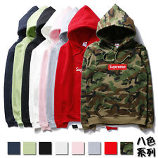 Top-rate! Mens SUPREME Hip Hop Hoodie Embroidered Cotton Sweater Men's Hoodies