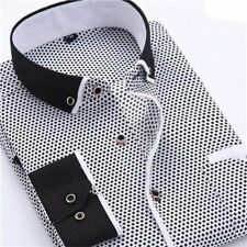 Casual Dot Printed Long Sleeved New Design Slim Fit Party Wear Shirt For Men