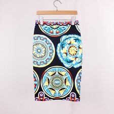 Summer Fashion Floral Pattern Solid Design Mini Skirt for Women ABN911