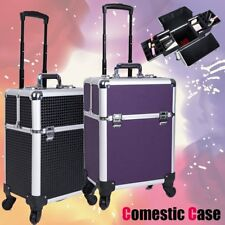 Portable Cosmetics Beauty Case Hairdressing Makeup Box Nail Storage Trolley Box