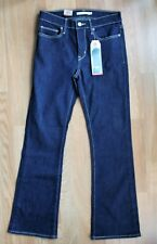 LEVIS:  Womens Slimming Bootcut Stretchy Blue Jeans,  NWT:  28 x 30   ret. $54