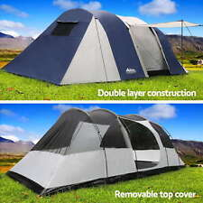 4-12 Person Outdoor Family Camping Dome Tent Canopy Marquee Shelter Sleeping Mat