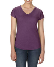 Womens V Neck Collar T-Shirt- Semi Fitted for Casual Fit 6750VL