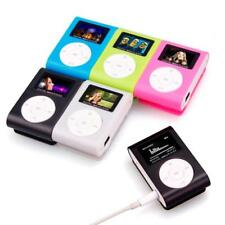 Portable USB Mini Clip Mental MP3 Player LCD Screen Support32GB Micro SD TF Card