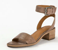 New in Box Frye Womens CINDY 2 PIECE Grey Leather 2 Strap Sandals 3479161-GRY