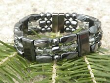 Mens Women Magnetic Hematite Bracelet Anklet Necklace w Diamond Black Swarovski