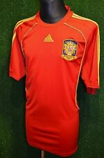 SPAIN 2007/09 XL HOME RED GOLD ADIDAS SHORT SLEEVE SOCCER FOOTBALL SHIRT JERSEY