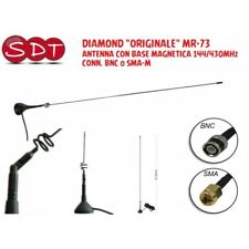 DIAMOND ORIGINAL MR-73 ANTENNA WITH MAGNETIC BASE 144/430MHz CONNECTOR BNC or