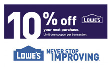 Lowes 1x/2x/3x 10% for Online Purchase Only *FAST* Code