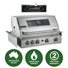 Smart 4 Burner Built-In LPG Gas BBQ with Rear Rotisserie Burner (401WB-W)