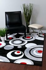 RUGS AREA RUGS CARPET FLOORING 2529 BLACK ABSTRACT CARPET LARGE NEW AREA RUG