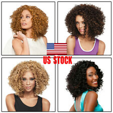 USA Fashion Sexy Women Girls Lady Wavy Curly Short Hair Full Cosplay Party Wigs