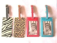 Luggage Tag Leather Red, Blue, Animal Print Cheetah, Zebra Travel Accessories