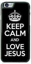 Keep Calm and Love Jesus Slogan Phone Case Cover for iPhone Samsung LG HTC gift