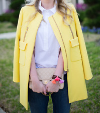 Zara Basic Yellow Coat Blazer With Pockets Zip Details Sold Out Bloggers XS M