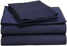 USA Bedding Item 100% Cotton 400-TC Navy Blue Solid Wrinkle Free All Size