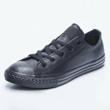 Converse Kids Chuck Taylor Leather Ox Shoes in Black