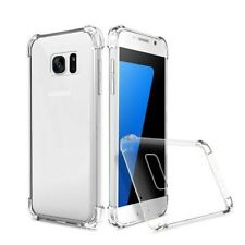 Transparent Phone Cover Case Protector For iPhone Samsung Anti-Drop Shockproof
