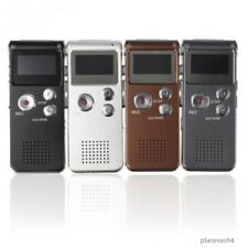 STEEL RECHARGEABLE DIGITAL AUDIO VOICE RECORDER MP3 PLAYER 8GB 650HR  RECORDER