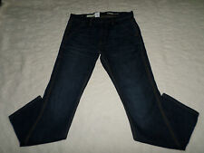 GAP 1969 JEANS MENS SIZE 29X30 SLIM WORKER SCRAPED DARK ZIP FLY NEW WITH TAG