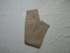 GAP DENSE TWILL PLEATED TROUSER PANTS MENS SIZE 32X30 NEW BRITISH KHAKI NEW NWT