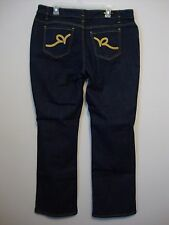 Rocawear ~ Womens Denim/Jeans ~Gold Embroidery on Back Pockets ~ Sz.18