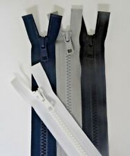 "YKK Separating Molded Plastic Zippers #5 Black White Gray Blue 4.5 to 24"" - $1"