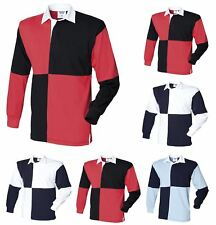 FRONT ROW FR02M Mens Quartered Heavy Jersey Long Sleeve Traditional Rugby Shirt