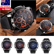 Mens Watches Waterproof Fashion Military Sports Casual Analog Quartz Wristwatch