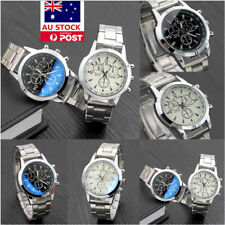 Mens Wristwatch Fashion Luxury Stainless Steel Sports Military Quartz Analog