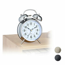 Retro Alarm Clock Travel Standard Nostalgic Metal Alarm Bedroom Table Quarz
