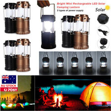 LED Solar Camping Light Collapsible Rechargeable Outdoor Hiking Lantern Lamp