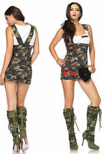 Halloween Combat Cutie Camouflage Military Army Costume Leg Avenue 83775 M or L
