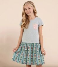 NEW MATILDA JANE Tween Girls Curtsey Once Upon A time Gray Floral Dress 12