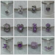 ~ Mauve (Shades) Style Charms ~ FOR CHARM BRACELETS ~ Organza Gift Bag ~
