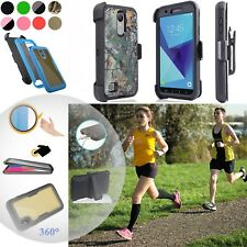 """for 5"""" LG Phoenix 3 K4 2017 Case 360° Screen Protector Belt Holster Stand Cover"""
