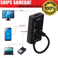 MHL Micro USB Male to HDMI Adapter Cable for HTC LG Motorola Samsung Sony
