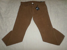 GAP CORDUROYS SLIM PANTS MENS SIZE 42X30 ZIP FLY LIGHT BROWN COLOR NWT