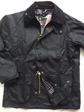 Barbour Bedale Men's Waxed-Cotton Jacket - Black, Size 34, 36