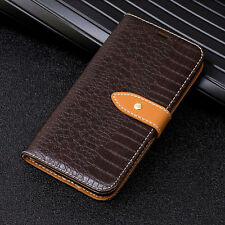 Crocodile Skin Pattern Flip Stand Wallet Leather Case Lot For iPhone X 7 8 Plus