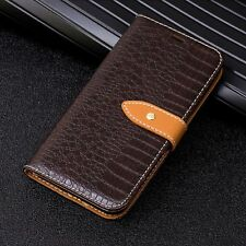 Crocodile Skin Pattern Flip Wallet Card Leather Case Lot For Moto G5 Plus