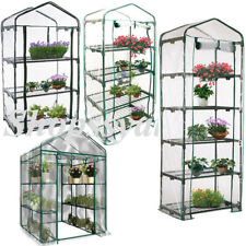 Greenhouse Garden Plant 3 Tier Tall Apex Green Hot House Shed Storage PVC Cover