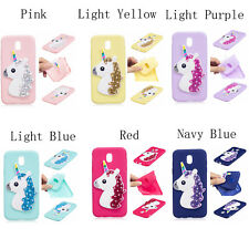 New 3D Unicorn Rhinestone Soft Silicone Case Skin Cover For Samsung GALAXY