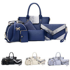 Women's Fashion Handbag Shoulder Bags Totes Messenger Bag Purse Leather 6pcs/Set