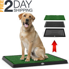 Pet Puppy Potty 3 Layers Breed Dog Toilet Training Pad Grass Mat Indoor Outdoor
